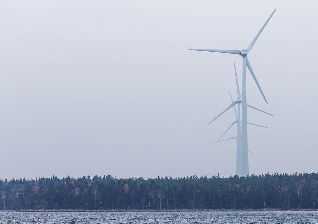 Nybyn tuulipuisto, Suomi
